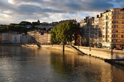 Photo du quai St Vincent à Lyon