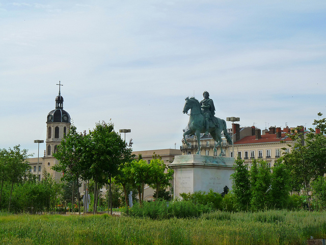 place bellecour lyon nature capitale