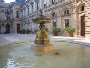 fontaine hotel de ville lyon