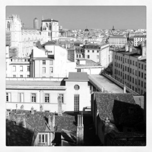 Lyon vue depuis la montée du chemin neuf