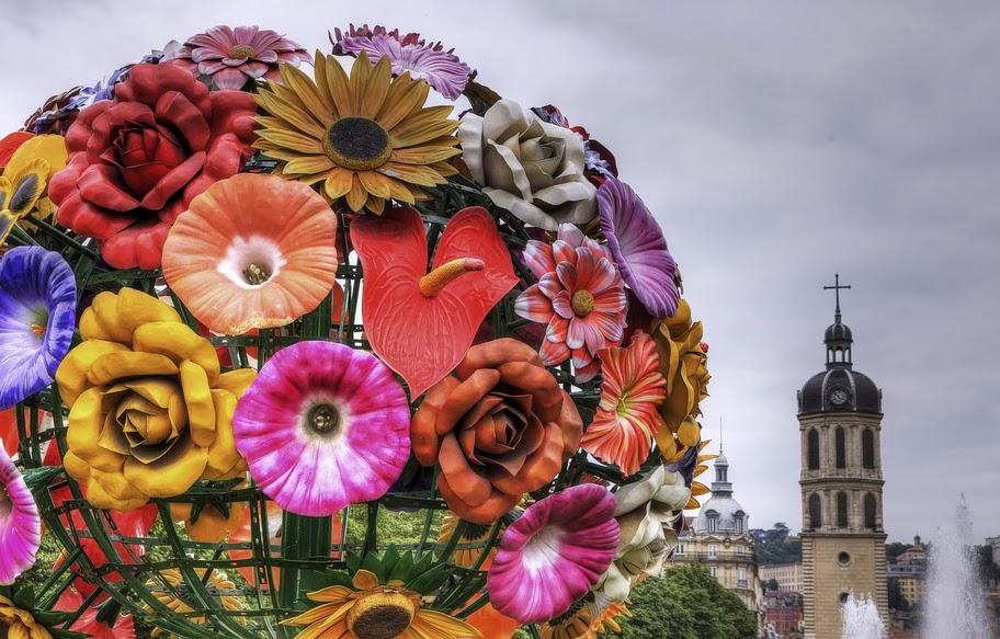 Photo flower tree lyon bellecour for Bouquet de fleurs lyon