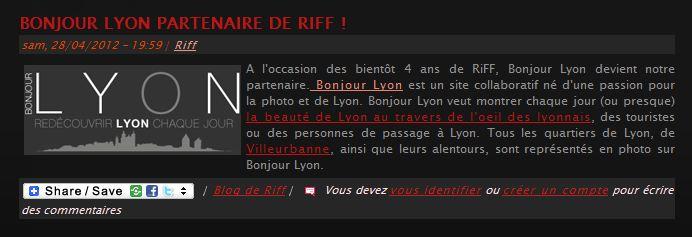 Bonjour Lyon Riff