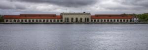 Photo de la centrale hydroélectrique de Cusset, Villeurbanne
