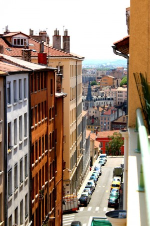 Photo des pentes de la Croix Rousse, Lyon