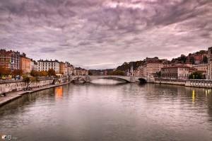 Saone pont Bonaparte, Lyon
