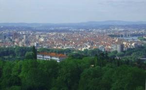 photo vue de lyon depuis plateau croix rousse