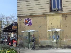 Canard graffeur Knar Villeurbanne