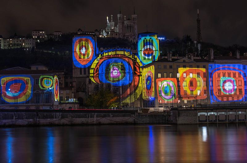 cathedrale st jean lyon fete lumieres 2012