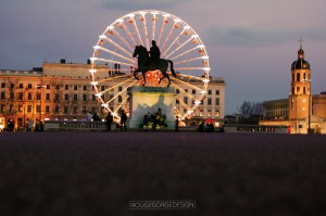 bellecour grande roue couchant