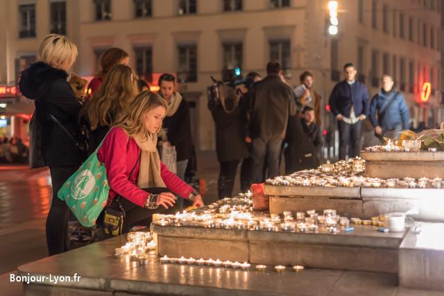 terreaux rassemblement attentats paris syrie