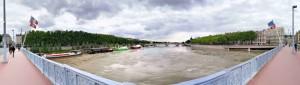 Panorama Rhone pont lafayette lyon