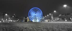 grande roue bellecour lyon neige