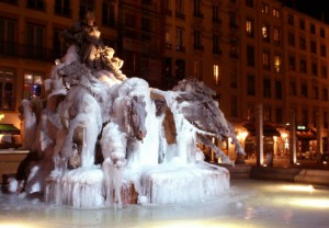 fontaine terreaux gelée lyon